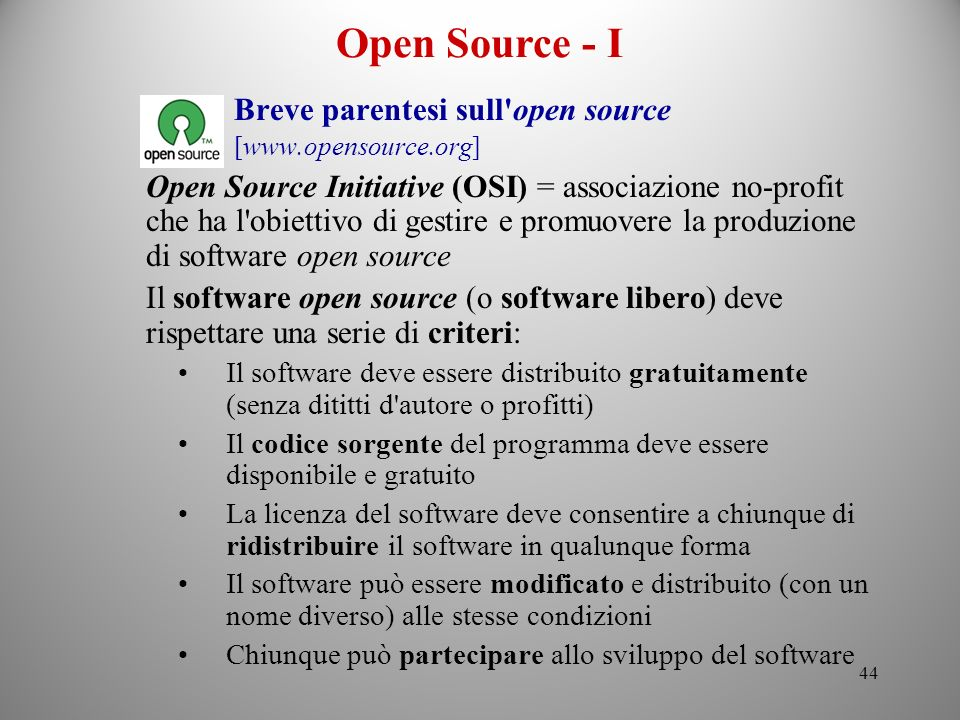 Open Source - I Breve parentesi sull open source [www.opensource.org]